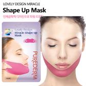 韓國 PUREDERM 奇蹟塑形拉提V臉面膜 單包入 小臉面膜【PQ 美妝】