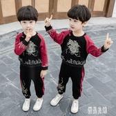 寶寶漢服男童唐裝秋兒童套裝男孩復古中國風古裝衣服民族風服裝 LR13978【優品良鋪】