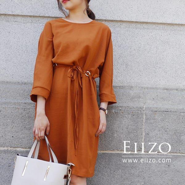 【EIIZO】涼感舒適都會風洋裝(橘)