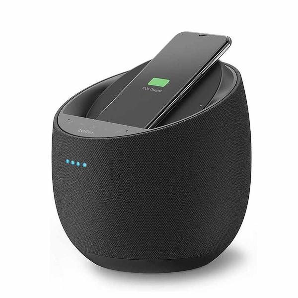 Belkin SoundForm Elite Hi-Fi 揚聲器 + 無線充電器(Alexa聲控) 黑/白 [2美國直購]