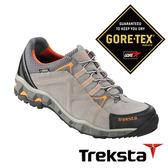 Treksta 男 Gore-Tex 防水低筒登山鞋 短筒皮革健行鞋 淺灰 戶外 KR16FM