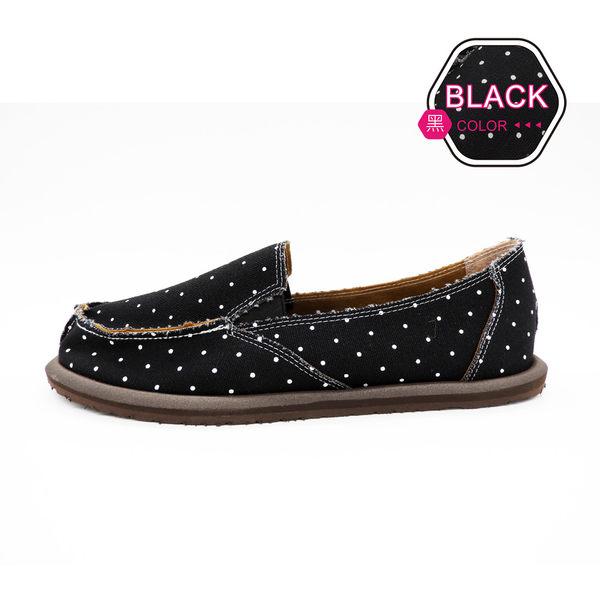 [ALMANDO-SHOES] 黑精靈點點帆布鞋/ 超輕量鞋/女休閒鞋