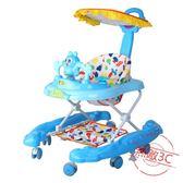 嬰兒童寶寶學步車6/7-18個月多功能防側翻手推可坐帶音樂助步車【中秋佳品】