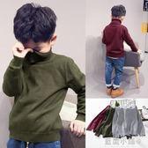兒童毛衣男童針織衫套頭秋冬童裝2018新款中大童高領加絨加厚毛衫 藍嵐