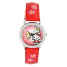 Hello Kitty 進口精品時尚手錶-好朋友一起來(紅) -HKFR101-01C