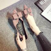 尖頭鞋 尖頭單鞋女韓版百搭春季女鞋淺口平底瓢鞋晚晚鞋鞋子 【時尚新品】