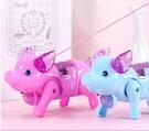 兒童抖音網紅同款牽繩發光音樂豬豬會跑會走路的動物電動小豬玩具 【快速出貨】
