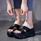 女拖鞋夏季外穿厚底鬆糕2021新款小香風懶人一字拖內增高網紅涼拖 夏季狂歡