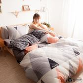 【LUST】布朗尼紅 100%純棉、雙人5尺精梳棉床包/枕套/薄被套四件組、台灣製