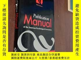 二手書博民逛書店Publication罕見Manual of the American Psychological Associa
