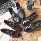 一腳蹬小皮鞋女學生韓版百搭夏季社會女鞋2019新款原宿英倫風單鞋   米娜小鋪