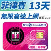 【TPHONE上網專家】菲律賓 無限高速上網卡 13天 每天前面2GB支援高速