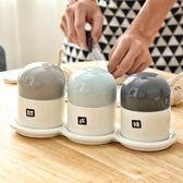 風陶瓷調味罐創意家用廚房用品調料盒套裝調料瓶油鹽組合套裝父親節特惠下殺