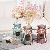 玻璃花瓶歐式水養植物器皿富貴竹水培客廳擺件鮮花插花瓶水培花盆 qf1427【夢幻家居】