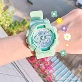 番茄網紅櫻花粉少女手錶 ins風抹茶綠男女中學生可愛獨角獸電子錶 阿卡娜