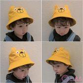 嬰兒帽 可愛卡通兒童漁夫帽春季女童平頂帽子男童漁夫帽夏季寶寶帽子盆帽
