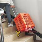 購物車 爬樓購物車買菜小拉車寵物推車輕便可折疊可坐戶外野餐桌椅手推車T