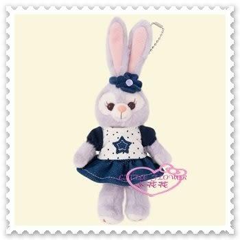 小花花日本精品♥ 迪士尼 StellaLou 史黛拉兔 牛仔風格 點點 全身造型 娃娃 布偶 吊飾 掛飾96510902
