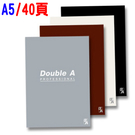 Double A A5 膠裝筆記