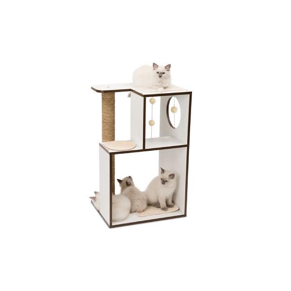 寵物家族-HAGEN 赫根Vesper 貓用實木精品家具 跳台-雅座(白色)