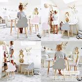 兒童桌椅 幼兒園兒童桌椅套裝實木寶寶學習寫字游戲培訓玩具ins桌椅子家用 mks生活主義