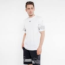 Adidas Originals T-Shirt Outline Trefoil Logo 短T 男款 白色 DU8536