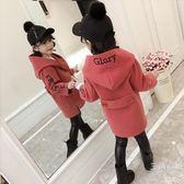 2018新款兒童秋冬裝外套女童裝呢子中大童寶寶小女孩秋季毛呢大衣