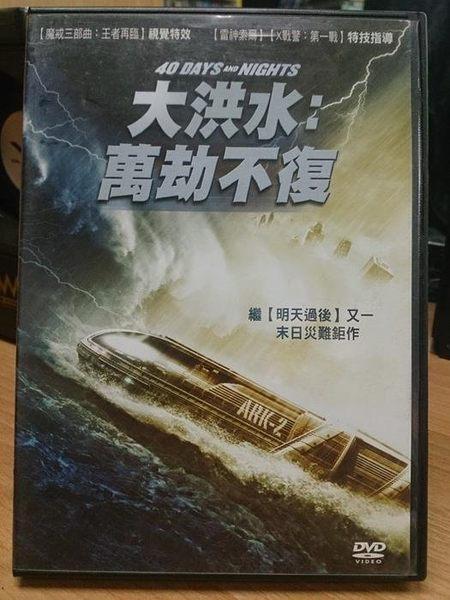 挖寶二手片-E12-009-正版DVD*電影【大洪水 萬劫不復】科學家的計算四十日內地球的陸地就要被海嘯
