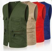 馬甲工作服diy印logo廣告制服攝影工衣定做多口袋志愿者馬甲『新佰數位屋』