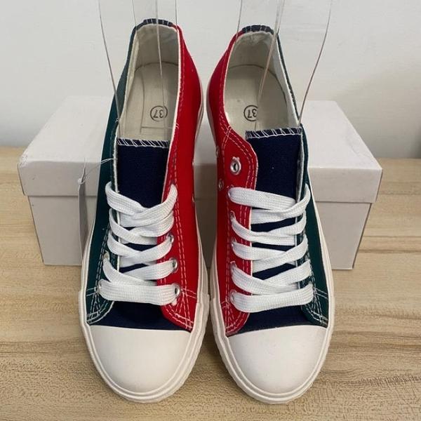 厚底懶人鞋潮帆布鞋休閒鞋(37號/222-8049)