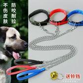 鐵錬狗狗牽引繩泰迪金毛遛狗繩狗錬子小型中型大型犬項圈 黛尼時尚精品
