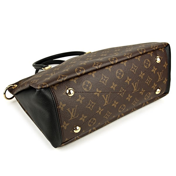 Louis Vuitton LV M42756 PALLAS 經典花紋皮飾邊手提兩用包.黑 全新 預購【茱麗葉精品】