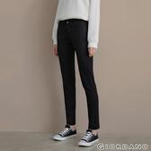 【GIORDANO】女裝中腰標準窄管休閒褲-09經典黑