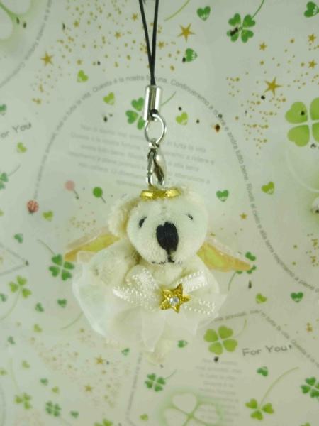 【震撼精品百貨】泰迪熊_Teddy Bear~吊飾-芭蕾白S