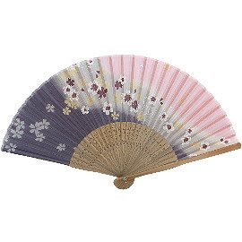 【波克貓哈日網】日本和風手拿扇子◇涼風御扇子◇《3色底櫻花》