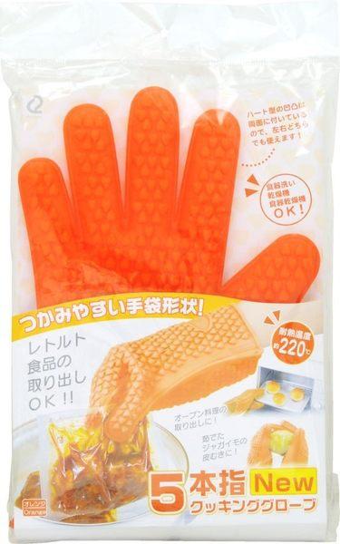 日本 ARNEST 矽膠隔熱手套 止滑設計 好清洗 工作手套 -橘 【6844】