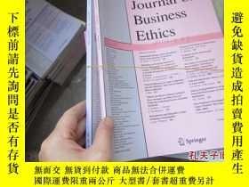 二手書博民逛書店journal罕見of business ethics 2013