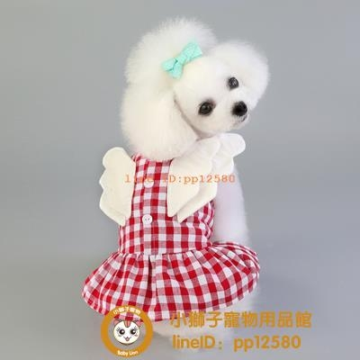 新款狗狗衣服貓咪夏季薄款泰迪比熊裙子春夏天寵物連衣裙小型犬小狗狗【小獅子】
