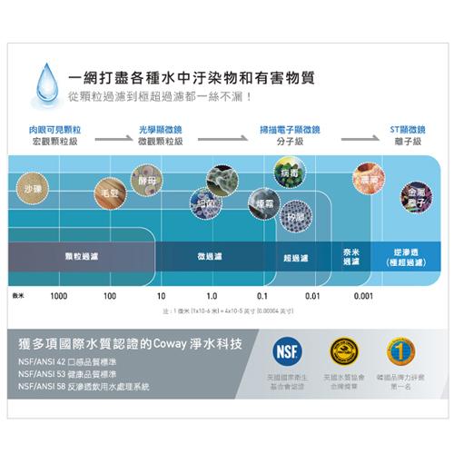 Coway 濾淨智控飲水機 專用濾芯組【14吋第一年份】