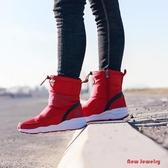 【新飾界】雪靴棉靴 雪地靴女 黑色 加絨 保暖短靴子 防滑 棉鞋
