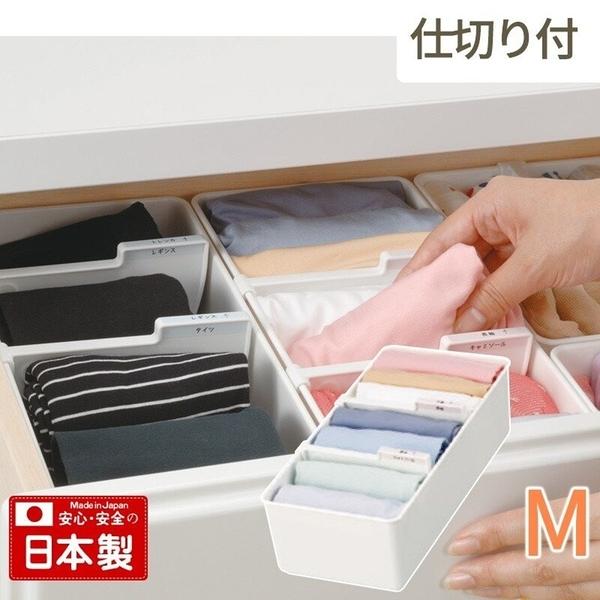 【日本製】【Inomata】日本製 內衣收納盒 M(一組:10個) SD-13677-10 - Inomata