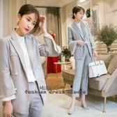 依Baby 新款裝春季韓版小香風西裝洋氣套裝職業裝