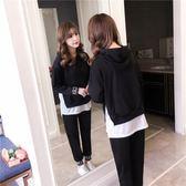 休閒運動套裝女春秋寬鬆正韓時尚學生顯瘦衛衣兩件式潮bf 優樂居