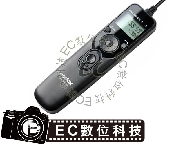 【EC數位】GODOX 神牛 液晶定時 電子快門線 RS-80N3 Canon 1DX、1V、EOS 3、D2000