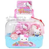 〔小禮堂嬰幼館〕Hello Kitty 醫生玩具組《藍.大臉.愛心.手提盒型》適合3歲以上孩童 4971413-01345