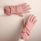 手套 手套冬天女學生加絨加厚羽絨棉可愛觸屏韓版保暖防風防水騎車手套【快速出貨八折下殺】