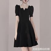 黑色小禮服女夏季新款赫本風平時可穿法式復古氣質顯瘦洋裝 居家物語