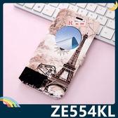ASUS ZenFone 4 5.5吋 卡通彩繪保護套 超薄側翻皮套 簡約 開窗 支架 插卡 磁扣 手機套 手機殼
