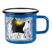 【芬蘭Muurla】嚕嚕米系列-嚕嚕米峽谷的冬天琺瑯馬克杯370cc-藍色