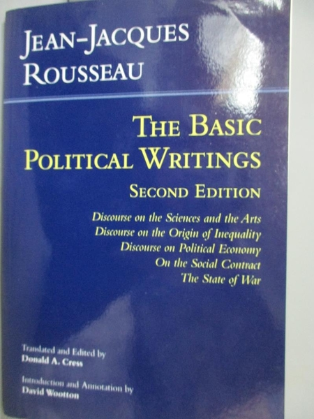 【書寶二手書T3/政治_ZHU】The Basic Political Writings: Discourse on…_